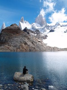 Please allow me to sit an wait for global warming to destroy this beauty: the Fitz Roy. by alextorrenegra, via Flickr
