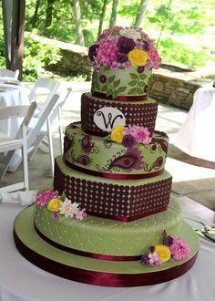 green color wedding cake - Google Search