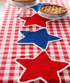 Americana Star Table Runner