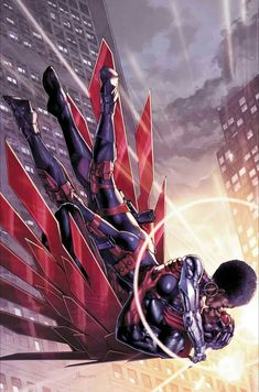 """""Everyone has that special person. Misty is mine."" – Falcon "" Cover art for Falcon Vol. 2 ""Vampires in Brooklyn"" Art by Jay Anacleto and Romulo Fajardo Jr. Marvel Comic Universe, Marvel Comics Art, Marvel Vs, Marvel Heroes, Marvel Movies, Captain Marvel, Captain America, Marvel Cartoons, Comics Universe"