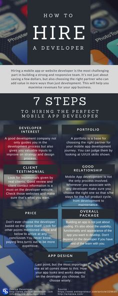 Hiring a developer is a big responsiblity for a company because the future business depends on his skills which s/he will use in developing the app. So here are some very important points which Companies can use while hiring a developer. #hiredeveloper #mobileapp #technology #picofthday #hire #technology #remotedevelopers #outsource