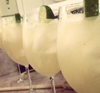 Skinny Margarita Can of frozen diet limeade, 12 oz. tequila, 24 oz. diet Sprite, one Corona Light. Best. Skinny. Margarita. Ever.