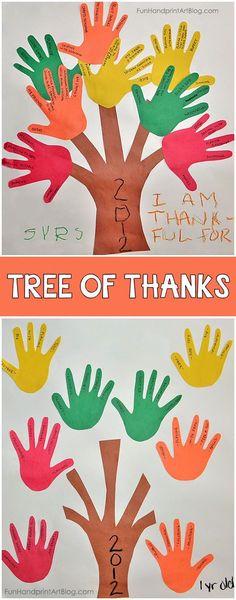 Handprint gratitude tree of thanks craft for kids thanksgiving crafts for kids, thanksgiving activities, Thanksgiving Crafts For Kids, Thanksgiving Activities, Fall Crafts, Halloween Crafts, Holiday Crafts, Diy Couture Cadeau, Thankful Tree, Footprint Crafts, Tree Crafts