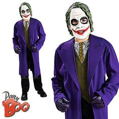 the joker age boys fancy dress batman child halloween kids villian costume - Joker Halloween Costume Kids
