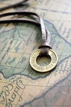 Vintage Trade Token Necklace Mens Necklace Vintage by Keytiques