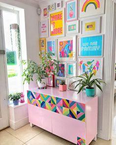Living Room Decor, Bedroom Decor, Pop Art Bedroom, Girls Bedroom, Bedrooms, Indian Room Decor, Colourful Living Room, Cute Room Decor, Home Room Design