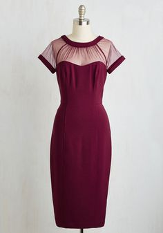 1950s style Cocktail Dress - Flair for Fabulous Dress in Bordeaux $149.99 AT vintagedancer.com