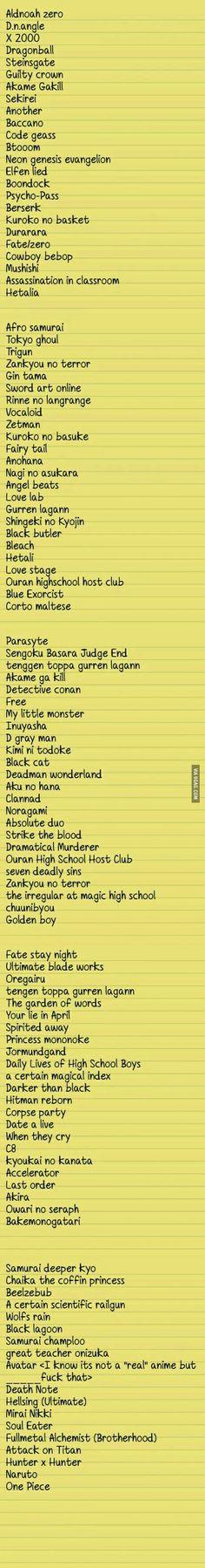 Anime recomendaciones