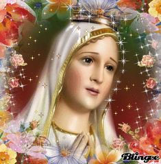 Our Lady of Fatima, pray for us. Jesus Mother, Blessed Mother Mary, Blessed Virgin Mary, Mother Gif, Mama Mary, Mary I, Holy Mary, Jesus And Mary Pictures, Fatima Portugal
