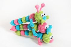 Baby rattle Teething baby toy Crochet baby toy Grasping Teething Toys Crochet rattle Caterpillar Baby shower gift