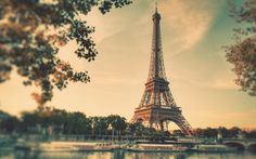 Vintage sepia Eiffel Tower wallpapers France Paris