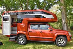 Truck Bed Camper, Truck Camping, Camping Trailers, Vw Amarok, Kombi Clipper, Monster Energy, Suzuki Cafe Racer, Adventure Campers, Expedition Vehicle