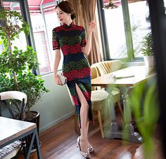 Elegant Chinese Women Lace Cheongsam Hot Sale Traditional Style Long Qipao Dress Vestido Clothing Size S M L XL XXL XXXL 368591