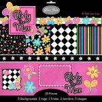 Graphics, clipart - Girly to the Max - Digital Scrapbooking, - cute for girls, teens and tweens parties...Gina Jane Designs - DAISIE Company