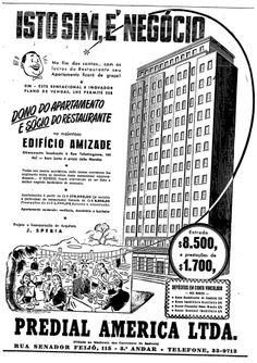 1952 - Anúncio imobiliário. Próximo a Praça João Mendes.