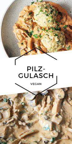 Cook N, Goulash, Cheap Meals, Food Inspiration, Vegan Recipes, Stuffed Mushrooms, Food Porn, Food And Drink, Veggies