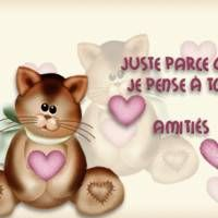 Juste parce que je pense à... Citation Courage, Illustration Mignonne, Cute Little Animals, Encouragement, Lily, Teddy Bear, Messages, Cards, Twitter