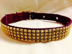 Economy Sparkling Gold Bling Dog Collar. by DogFabulous on Etsy