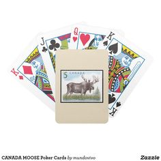 CANADA MOOSE Poker Cards
