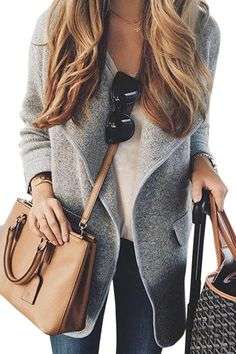 This cardigan is suit for fall and winter day. It come with knit fabric, long length, long sleeves and two pockets at the side. Just pair it with your long t-shirt and jeans enjoying warm day.