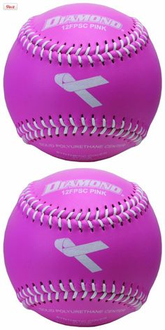 Diamond Sports 12-Inch Fastpitch Synthetic Cover Softball (12-Pack), Diamond Sports 12SC PINK themed softball 12 Synthetic cover pink themed fastpitch softball is great for pink themed softball events. Polyurethane core. White stitch, #Sporting Goods, #Fast-Pitch Softballs