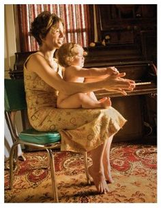 "Ani Difranco and her daughter Petah Lucia in a photo shoot for ""Mothering -Natural Family Living"" magazine 2008....."