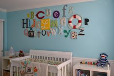 One of the cutest alphabet walls I've seen!  :-) (at Project Nursery!) DSC_0399