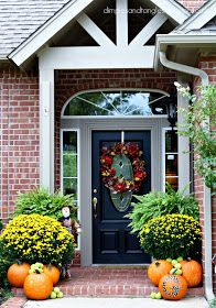 Dimples and Tangles: Outdoor Fall Decorating Ideas