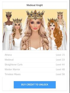 Curls With Straightener, Pretty Drawings, Medieval Knight, Fashion Design Sketches, Fashion Hair, Covet Fashion, Hair Accessories, Princess Zelda, Hairstyles