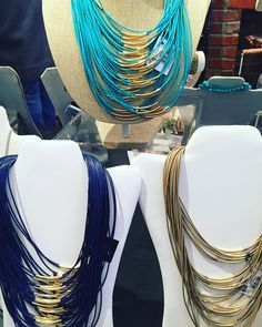 Layers of color!! Statement necklaces- $18.95  #madisonsbluebrick #downtownhotsprings #necklaces #shoplocal