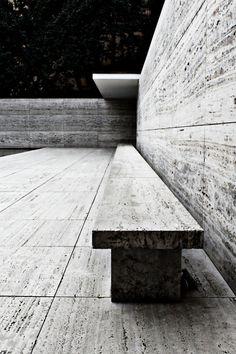 Rebuilt Barcelona Pavilion in Barcelona, Spain. Originally for the World Fair of 1929. Ludwig Mies van der Rohe