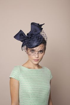 Gina Foster | Portofino | Dark Navy and Pill Box Hats | LOVEHATS.COM