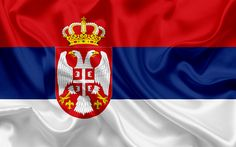 Download wallpapers Serbian flag, Serbia, silk flag, Europe, flag of Serbia