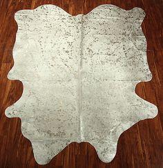 Metallic Cowhide rug