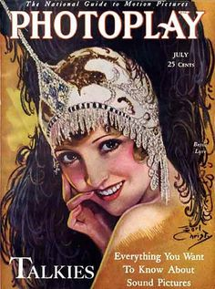 1920's Photoplay Magazine- pleaaase give us a reason to sport a bejeweled headpiece like this- so fun!