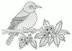 Pintura Aguja o hilo de pintura de la Mano Kits de bordado de las Aves (Silk Shading, bordado de seda), Animales, flores, pájaros, bordado a ...