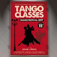 Tango Classes - Premium Flyer PSD Template.  #argentinetango #ballroomdancing #canyengue #chacha #couple #dance #flamenco #habanera #Latindance #latino #maxixe #milonga #salsa #samba #tango  DOWNLOAD PSD TEMPLATE HERE: https://www.psdmarket.net/shop/tango-classes-premium-flyer-psd-template/  MORE FREE AND PREMIUM PSD TEMPLATES: https://www.psdmarket.net/shop/