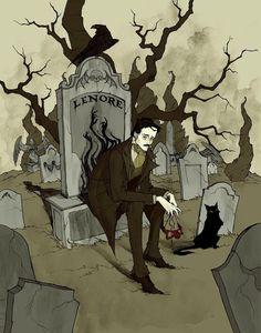 Edgar Allan Poe by AbigailLarson on DeviantArt,  love the dark, beautiful writing of this man