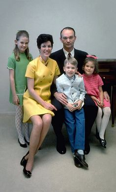 Apollo 11 astronaut: Michael Collins family, wife Patricia, daughter Kate, daughter Ann and son Michael. Michael Collins, Astronauts In Space, Nasa Astronauts, Neil Armstrong, Space And Astronomy, Nasa Space, Apollo Space Program, Apollo Missions, Nasa History