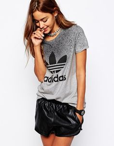You know we're bringing back the 90s this season, so logo tees are very much wanted in the wardrobe area. Love this Adidas number, from the new Adidas Originals x Rita Ora collection.