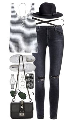 """""""outfit for spring"""" by im-emma ❤ liked on Polyvore featuring J Brand, Frame Denim, H&M, Superga, philosophy, Marc by Marc Jacobs, Maison Margiela, Forever 21, Burberry and Ray-Ban"""