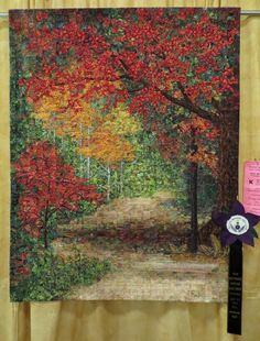 Come Walk with Me - Best of Show Wall Quilt, Cathy Geier Sun Prairie Quilt Show 2016. From Cathy Geier's Quilty Art Blog.