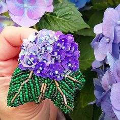 Лето не хочется отпускать.Поэтому еще сделала любимую Гортензию фиолетовую.#handmade #hand_made #handmade_prostor