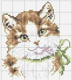 Bordados de gatos en punto de cruz03