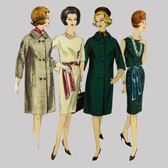 1960s One piece dress and coat pattern Vogue Paris by knightcloth, $39.95 Classic Guy Laroche