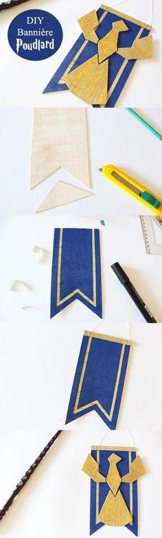DIY bannière Serdaigle Poudlard Harry Potter