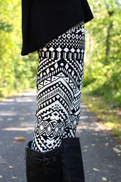 love the printed leggings