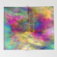 rainbow clouds Throw Blanket