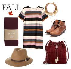 """""""Fall Colors"""" by xoxo-bng on Polyvore featuring H&M, J.Crew, Rusty, Rupert Sanderson and Vince Camuto"""