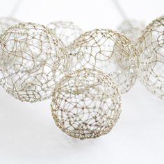 silver bubble neckpiece by miettefr on Etsy,